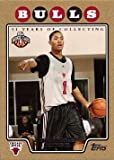 2008-09 Topps Gold #196 Derrick Rose Basketball Rookie Card - Only 2,008 made!