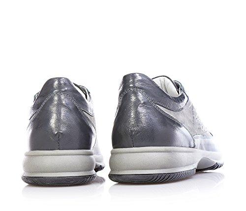 1^CLASSE - Graue Schuhe mit Schnürsenkel, aus Wildleder und Leder, Mädchen