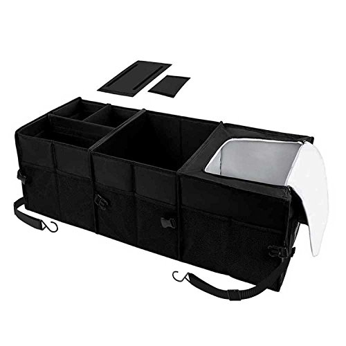 - Autoark Multipurpose Car SUV Trunk Organizer with Straps,Durable Collapsible Cargo Storage,Waterproof Bottom (Heat-Preservation),AK-052