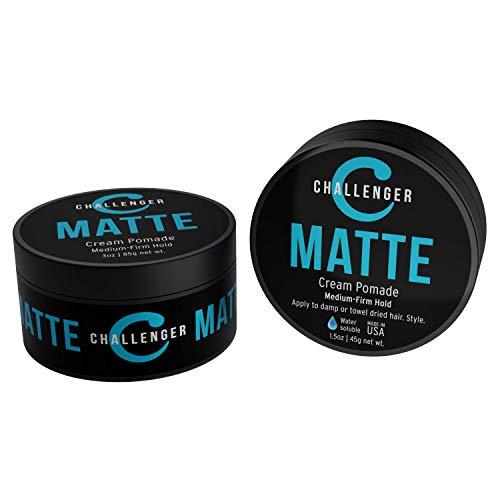 Challenger Men's Matte Cream Pomade, Combo