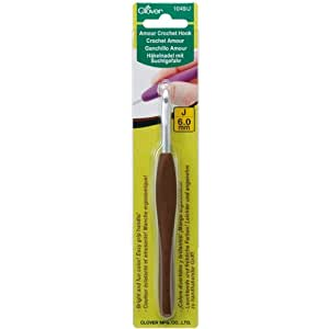 Clover 1049/J Amour Crochet Hook, Size J, 6.0mm