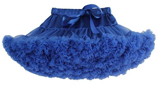 BaiX Little Girls Tiered Ballet Tutu Skirt Kids Dance Party Tulle Pettiskirt 8-10 Years, Royal Blue by BaiX