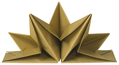 Now Designs Origami Paper Napkins, Gold