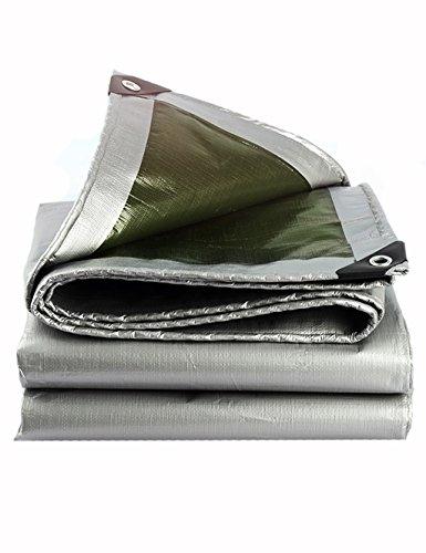 PIPIXIA PE Thick Outdoor Poncho Mehrzweck Plane Picknick-Matte für Auto und Stiefel Familie Camping Holz mit Wasserdichten Sonnenschutz und Reißfestigkeit Silber Cyan