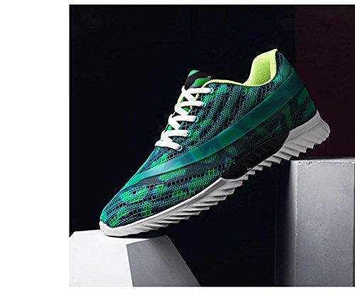 Mouvement Camouflage Respirant Chaussures Motif Maille Hommes Surface De Courir Green qw06Tgd