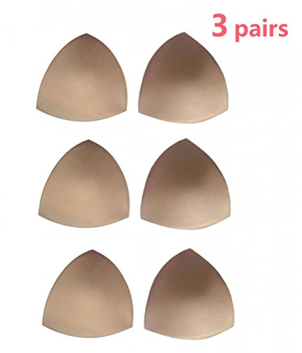 Womens Removable Smart Cups Bra Inserts Pads For Swimwear 3 Pairs In