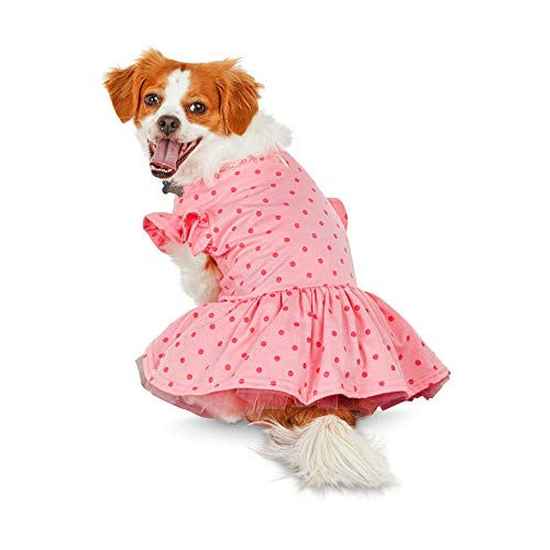(Bond & Co. Pink Polka Dot Dog Dress, X-Small)