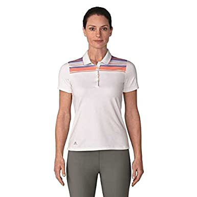 adidas Ultimate 365 Stripe Merch Short Sleeve Polo de Golf, Mujer ...