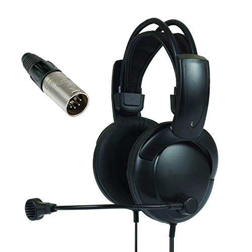 - Telex RTS Double muff Headphones with Male XLR Five pin Connector Stereo