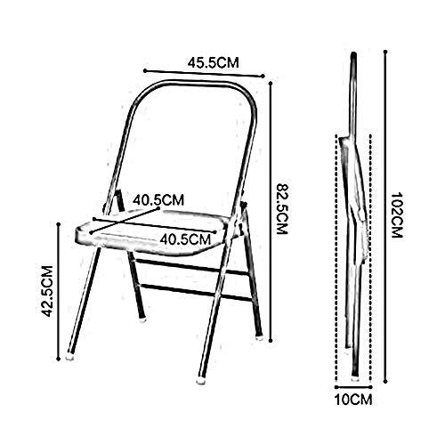 Amazon.com: CJC Chairs Folding Yoga Backless Standard Prop ...