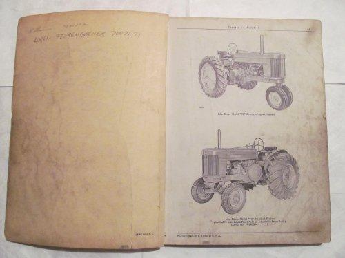 John Deere 70 Gas & LP Tractor Parts Catalog Book Manual PC-313 Original