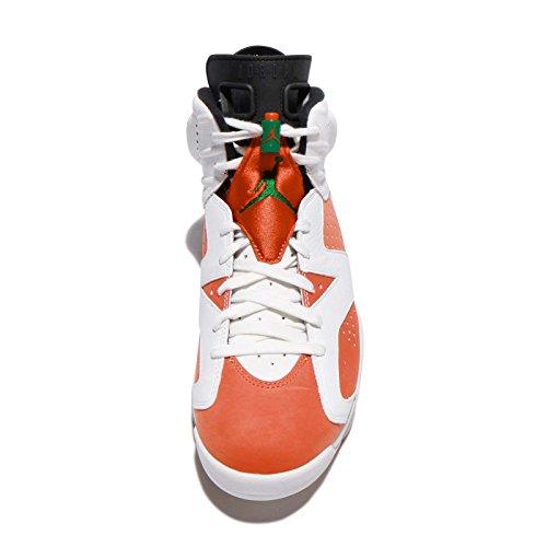 Nike 384664-145 Uomini Air Jordan 6 Retro Jordan Summit Bianco / Squadra Arancione-nero