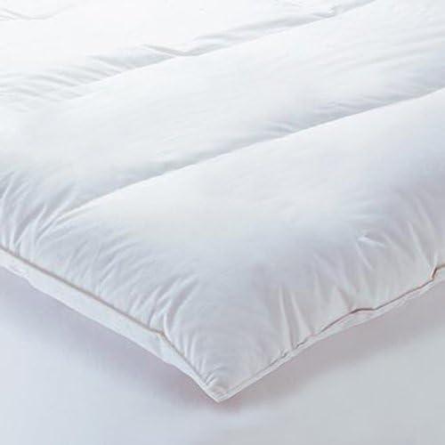 Linens Limited Surmatelas 1 Personne en Plume et Duvet doie 90 x 190cm
