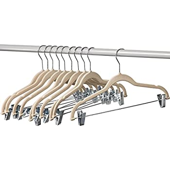 Amazon Com Ultra Slim Velvet 4 Bar Pant Hangers Set Of