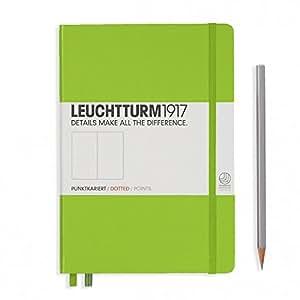 "Leuchtturm 1917 Hard Cover Medium 5.8"" x 8.3"" (A5) Journal, Lime Green, Dotted/Points"