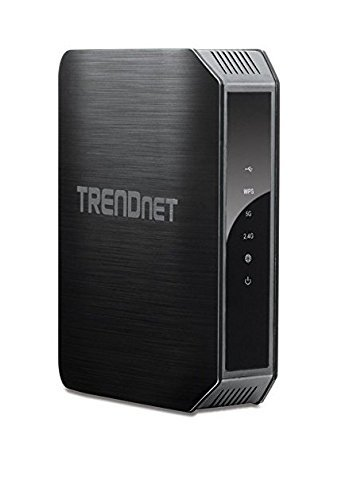 TRENDnet TEW-813DRU AC1200 Dual Band High-power Gigabit Wireless AC Router, 2.4GHz 300Mbps+5Ghz 867Mbps, One-touch WPS network connection, Guest Network, parental controls (Certified Refurbished)