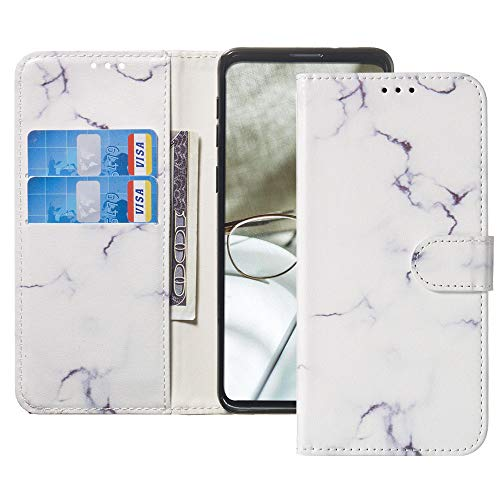 (Galaxy A8 Plus Wallet Phone Case IVY [Marble Series] with Card Slot PU Leather Flip Cover for Samsung A8+ Plus SM-A730 - White)