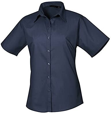 Premier Womens Short Sleeve Poplin Blouse Available in 30 Colours and Sizes up to 6XL 26