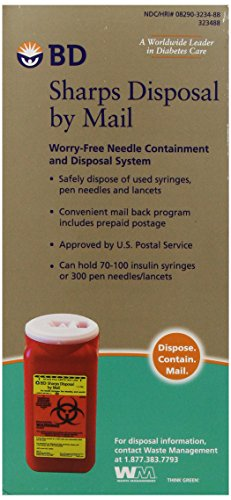 BD Sharps Disposal by Mail Worry free Needle Disposal by Bd (Image #1)