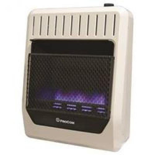 Procom Blue Flame - ProCom MG20TBF Ventless Dual Fuel Blue Flame Thermostat Control Wall Heater, 20,000 BTU