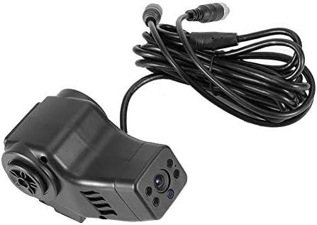 KIMISS ダッシュカムカメラ、HD 720PフロントリアカーダッシュカムダッシュボードDVRカメラビデオレコーダーバックミラーカメラ