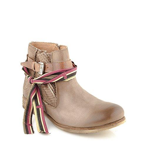 Enamorarse Mujer Cuero cremallera Genuino con Zapatos Botines com Marr Felmini Alfa para A003 antERwCxS