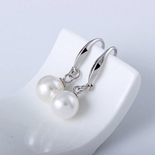 B.Z La Vie Parure Bijoux Femme Perles Nacre Culture Eau Douce 7mm et Boucle  d  f69bbf969a37