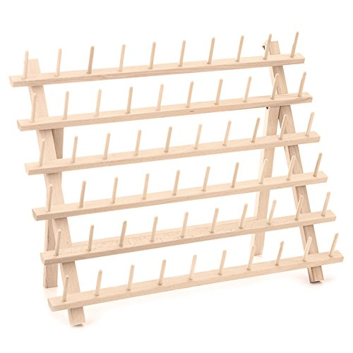 LianLe 60 Spool Wooden Thread Rack Organizer Storage for Sewing Quilting Embroidery