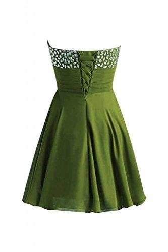 colletto Sunvary Oliva Prom corto elegante Mini Abito Verde tesoro da Cocktail Gowns aqxUAnBq