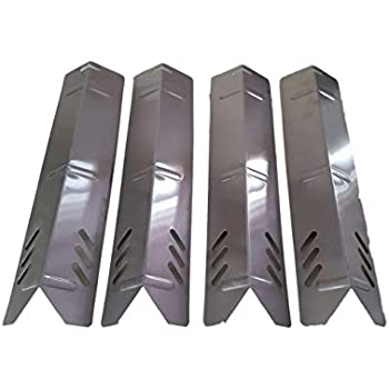Set Of 4 Stainless Steel Heat Plates (Length 15 Inchs, Width 3 3/4 Inches)  For Backyard Grills, Better Home And Garden Grills And Uniflame Grills