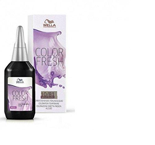 Wella Color Fresh Glanz-Tönung 10/ 81 hell-lichtblond perl-asch, 2er Pack, (2x 75 ml) 10003224