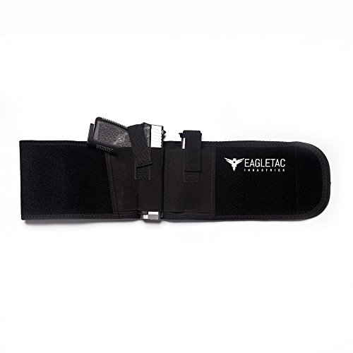 Eagletac Industries Concealed Carry Holster for Waist or Chest, Neoprene Reduces Sweat and a Secure Pocket for a Magazine. Holds most Pistols & Revolvers. For Men and Women. (Best Handgun For Female Self Defense)