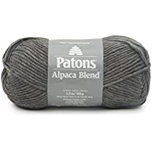 Patons  Alpaca Blend Yarn - (5) Bulky Gauge  - 3.5oz -  Slate -  Machine Washable  For Crochet, Knitting & Crafting