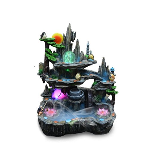 GL&G Rockery Water Indoor Tabletop Fountains Fish pond Home Decoration living room office Tabletop Scenes Ornaments Floor-Standing Fountains Humidifier Parts High-end Business gift,594372cm by GAOLIGUO