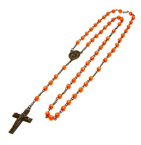 Buy orange rosary beads