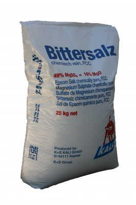 Bittersalz Magnesiumsulfat 25 kg, MgSO4 Food Grade FD epsom salt