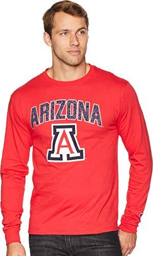 - Champion College Men's Arizona Wildcats Long Sleeve Jersey Tee Scarlet Medium