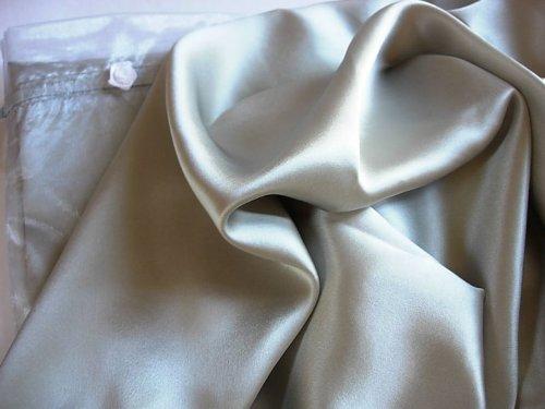 Set of 2 100% mulberry silk pillowcases QUEEN silver pillow