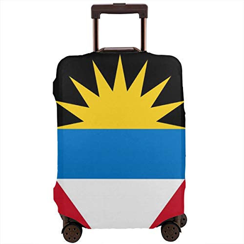 Antigua & Barbuda National Flag Zipper Travel Luggage Suitcase Cover Baggage Protector Anti-Scratch Luggage Case Dustproof Protective Cover for 18-28 Inch Suitcase, Removing-Free