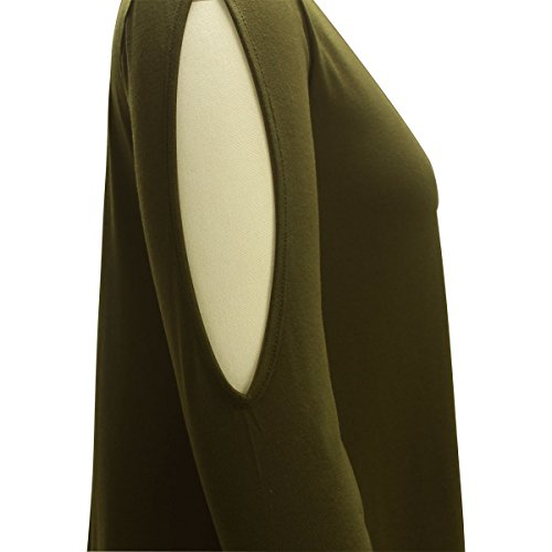 ASCHOEN - Vestido - Manga Larga - para mujer Armeegrün