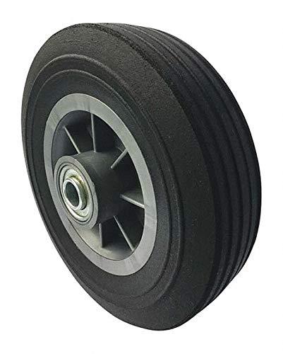 8'' Light-Medium Duty Ribbed Tread Solid Rubber Wheel, 450 lb. Load Rating pack of 5