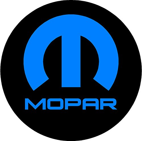 Chrysler Mopar Black and Blue Replacement Decal Sticker 6 Piece Set (1.75