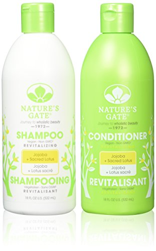 Nature's Gate Jojoba Revitalizing, Duo Set Shampoo + Conditioner, 18 Ounce Each