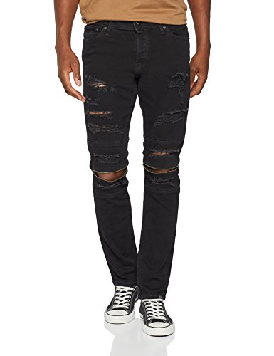 JACK & JONES, Vaqueros Slim para Hombre Negro (Black Denim)