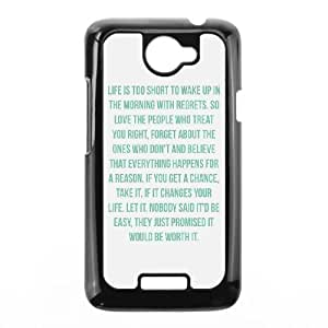 HTC One X Cell Phone Case Black quotes life is too short make it worth Bzpnr