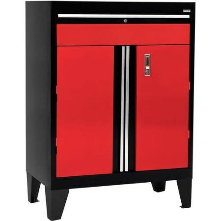 Modular Storage System Base Cabinet with Drawer 30''W x 18''D x 43''H Modular Designed to Custom Configure Any Workspace, Red