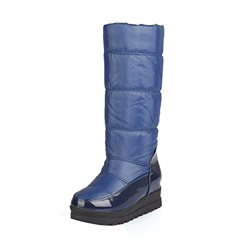 ENMAYER Blue Snow and Size Thicker Heel Plus Womens Boots Warm Boots Thick Cotton HFqHwr