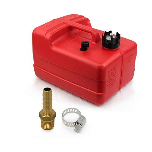 Five Oceans 3 Gallon Fuel Tank/Portable Kit w/Universal Brass Fuel Hose Barb (1/4