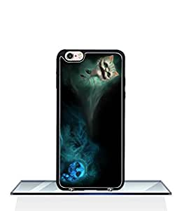 Hard Funda Case For Apple Iphone 6s Plus (5.5 inch) Alice in Wonderland Wallpaper Trendy Style Dust proof Slim Black Back Wrap Protective Funda Case Cover For Kids