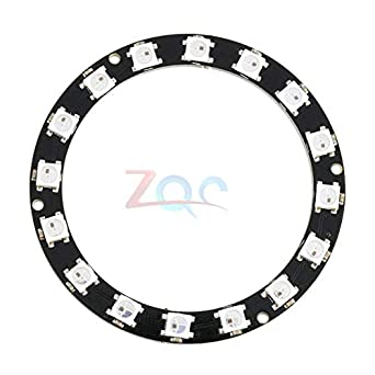 WS2812B DIY LED Ring 16 Bits Addressable LEDs DC5V w// Integrated Driver
